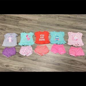 18 Month 3 Piece Girls Pajama Bundle